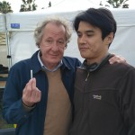With Geoffrey Rush at Storm Boy